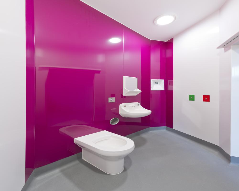 BioClad vivid pink installation