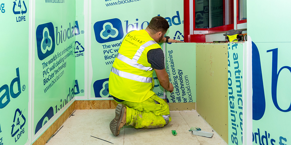 How to fit hygienic wall cladding