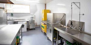 Hygienic Wall Cladding in a Kitchen