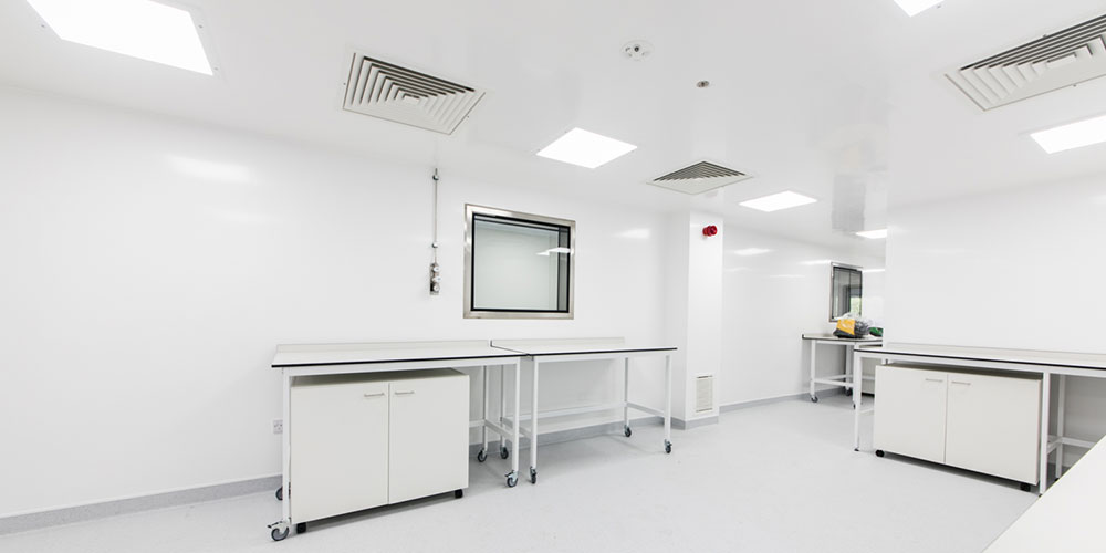 A hygienic environment with BioClad installed